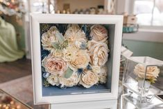 Floral V Designs specializes in wedding flowers, including bouquets, centerpieces, and ceremony flowers. Event, holiday, corporate and everyday flowers. Bouquet Shadow Box, Flower Bouquet Boxes, Flower Shadow Box, Floral Bouquets, Freeze Dried Flowers, Wedding Picture Walls, Wedding Keepsakes, How To Preserve Flowers, Flower Designs