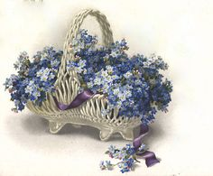 forget me not flower blue small vintage: Vintage Ephemera, Vintage Cards, Vintage Postcards, Vintage Pictures, Vintage Images, Vintage Flowers, Blue Flowers, Beautiful Artwork, Beautiful Flowers