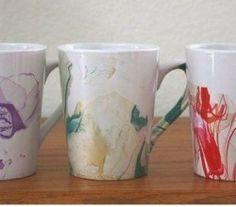 diy marbled watercolor coffee mug