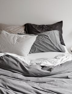 Cotton Jersey Bed Linen And Quilt Covers With A Subtle Stripe Design.  Quality European Fabric Woven In Europe And Designed Exclusively For Abode  Living To ...