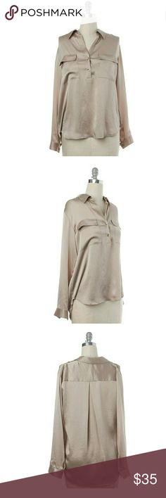 L'AGENCE silk beige blouse Perfect blouse, a staple.  Works well in the office and perfect for dinner with friends. Good used condition.  Some minor snags. 0091 L'AGENCE Tops Blouses