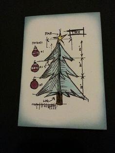 Blueprint Christmas tree