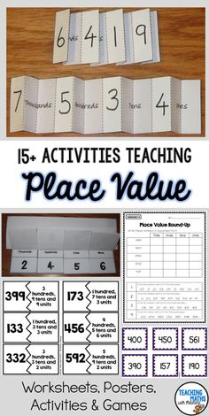 Place Value Games, Activities and Worksheets Place Value Games, Place Value Activities, Place Value Worksheets, Teaching Money, Teaching Math, Teaching Ideas, Maths 3e, Teaching Place Values, 3rd Grade Activities