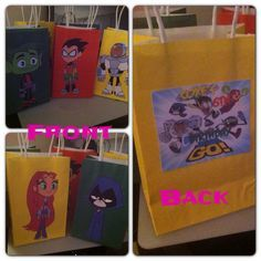 teen titans party ideas | Teen Titans Go goody bags by Charmedby3Designss on Etsy, $27.00 - I ...