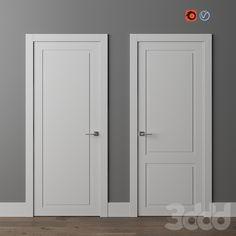 Interior Door Trim, White Interior Doors, Interior Door Styles, White Doors, Contemporary Interior Doors, Bedroom Door Design, Home Room Design, Bedroom Doors, Two Panel Doors