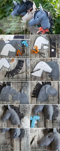 Felt Stick Horses I remember how much fun I had with stick horses !!
