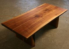 Cenzo Design - Custom Furniture Pittsburgh - Live edge walnut coffee table