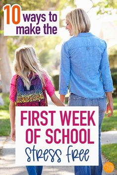 Get ready for the first week of school with these tips! Make back to school easy when you follow these steps to make the school year less stressful for everyone. Genius ways to connect with your kids, get organized, and ready for an awesome year! #backtoschool #parenting #momlife #organization
