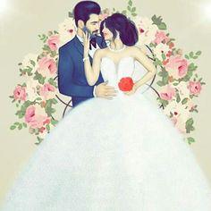 هونەری وێنەکێشان Best Friend Drawings, Girly Drawings, Couple Drawings, Girly M, Wedding Illustration, Love Illustration, Cute Couple Art, Cute Couples, Sarra Art