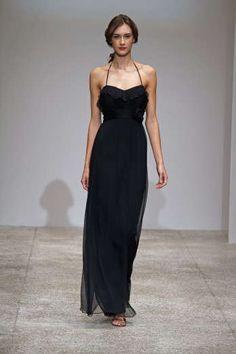 black long evening dress
