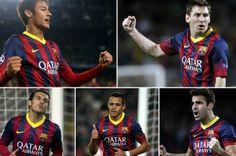 Los hombres gol del Barça buscan hueco en la delantera ante el Atleti el 11.01.14