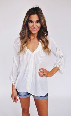 Dottie Couture Boutique - Ivory Pleated Top , $62.00 (http://www.dottiecouture.com/ivory-pleated-top/)