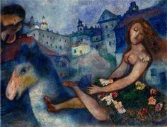 Marc Chagall. Jeune fille au cheval 1927-1929