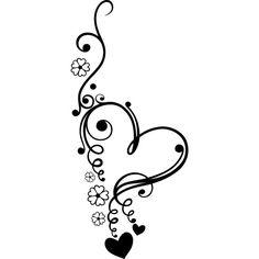 Heart Scroll Flowers Stencil by Jennastencils on Etsy                                                                                                                                                                                 More