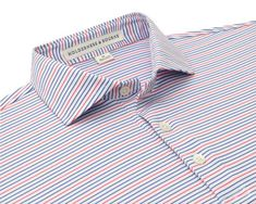 The Sands Shirt: Armstrong - Holderness & Bourne Florida Weather, Cutaway Collar, Collar Stays, Golf Shirts, Sands, Warm Weather, Pattern, Mens Tops, Whales