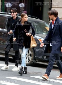Olivia Palermo and Johannes Huebl out and about, New York, USA - 15 Apr 2018