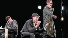 Elena Rayos, Daniel Albadalejo y César Sarachu, en 'Reikiavik'.  Actriz Elena Rayos www.unicarepresentaciones.com Veronica Reche 656917573