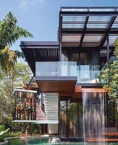 "3,600 Likes, 16 Comments - Arqui Decor Oficial (@arqui_decor_oficial) on Instagram: ""Bom dia!!! #casas #arquitetura #architecture #inspiration #housestyle #containerhouse #contemporary…"""