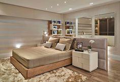 Camas ilhas - veja layouts de quartos com a cama no meio do ambiente! - Decor Salteado - Blog de Decoração e Arquitetura