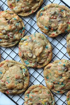 Send the kiddos to school with a sweet little birthday surprise in the form of scrumptious Birthday Cake Chocolate Chip Cookies. They'll love each and every chewy, delicious bite, and if you save a little creamy cookie dough for an after-school snack, you'll really hit the jackpot.
