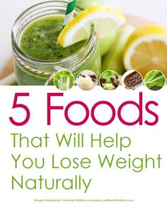 5 Foods That Will Help You Lose Weight Naturally! Just subscribe to the Everyday Wellness newsletter to receive this ebook for FREE!  weight loss | health ebook | natural weight loss