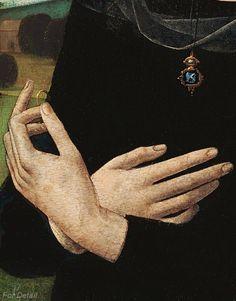 Portrait of a Young Woman - Lorenzo di Credi (Lorenzo d'Andrea d'Oderigo) (1456/59–1536) - detail