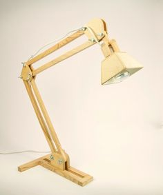 Wood Desk Lamp for the studio at dotandbo.com