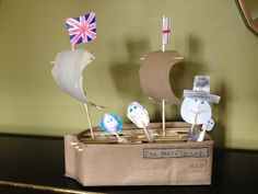 Mayflower out of a half carton and toilet rolls...