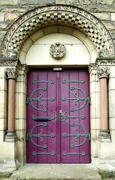 Purple door in Metz, Lorraine, France.