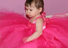 Baby Kiara in Princess Tutu Dress, #babytutudress