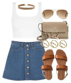 """""""Style #10675"""" by vany-alvarado ❤ liked on Polyvore featuring Monki, Ray-Ban, Chloé, Aéropostale and ASOS"""