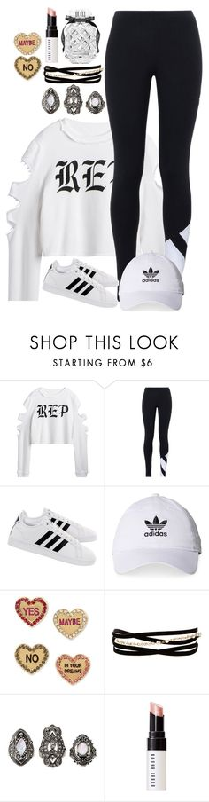 """Crazy"" by luckystrawberry ❤ liked on Polyvore featuring adidas Originals, adidas, Betsey Johnson, Kenneth Jay Lane, Charlotte Russe, Bobbi Brown Cosmetics, Victoria's Secret, StreetStyle, LazyDay and ootd"