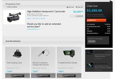 shopping cart page designs E-commerce page designs