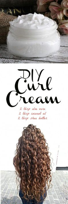 If you have curly or wavy hair, this DIY curl cream recipe will be right up your alley! Instead of saturating your hair with store bought creams and mouses that are loaded with drying alcohols #HairCareOil Natural Hair Care Tips, Natural Curls, Natural Hair Styles, Natural Beauty, Natural Face, Diy Deodorant, Wavy Hair, New Hair, Curls Hair