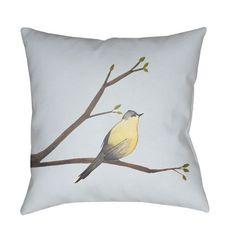 Chickadee Multicolor 18 x 18-Inch Throw Pillow