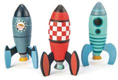 Rocket Construction Toy Set - 18 Pc Wooden Construction Set Builds 3 Rocket Ships - Made with Premium Materials and Craftsmanship - Develops Problem Solving Skills and Imaginative Play - Years in Building & Construction Toys. Toy Rocket, Rocket Ships, Handmade Wooden Toys, Problem Solving Skills, Imaginative Play, Cool Things To Buy, Product Launch, Construction, Rockets
