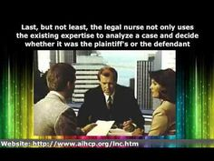 The Role of the Legal Nurse Consultant #legalnurseconsultingeducation