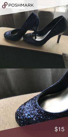 Jessica Simpson sparkly navy heels Sparkly navy heels Jessica Simpson Shoes Heels