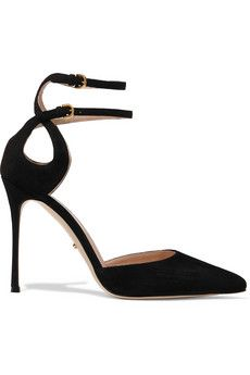 Sergio Rossi Cutout suede pumps    THE OUTNET