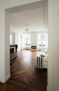 chevron hardwood floors