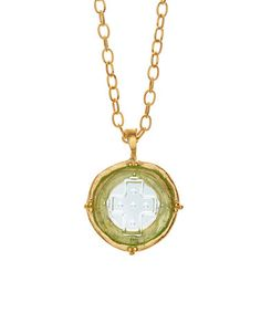Look what I found on #zulily! Venetian Glass & Gold Cross Pendant Necklace #zulilyfinds