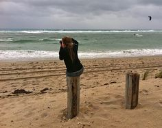 My daughter Rosalie at Pompano Beach FLA