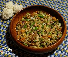 "Fried ""Cauliflower Rice"" with Veggies - This recipe will amaze your taste buds. Absolute loved the fried cauliflower rice. So much better and healthier than regular rice."