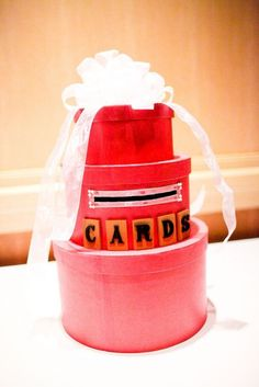 Scrabble Cake Card Box | Weddingbee DIY Projects