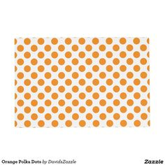 Orange Polka Dots Placemat Available on many products! Hit the 'available on' tab near the product description to see them all! Thanks for looking!  @zazzle #art #polka #dots #shop #home #decor #kitchen #dining #apartment #decorate #accessory #accessories #fashion #style #women #men #shopping #buy #sale #gift #idea #fun #sweet #cool #neat #modern #chic #black #blue #orange #green #purple #yellow #red #white