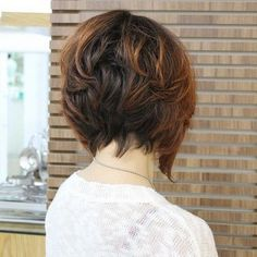 Graduated Bob Hairstyle with Highlights