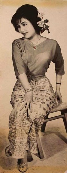 Famous Burmese movie star Daw Khin Yu May in the 1960s