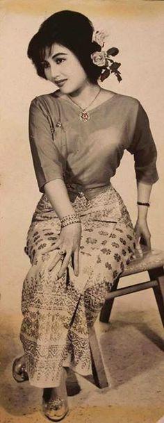 Famous Burmese movie star Daw Khin Yu May in the 1960s