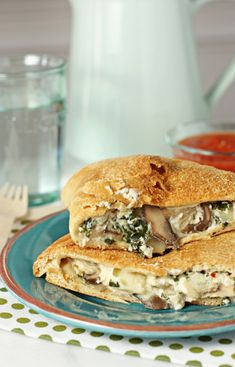 Mushroom, Spinach and Kale Calzones from Cookie Monster Cooking