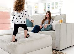 Any configuration you want. Machine washable covers that are interchangeable. And guaranteed for life. Sounds like the perfect sectional sofa, no?